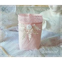 WINDLICHT Lichtbeutel Glashusse Rosa Weiß