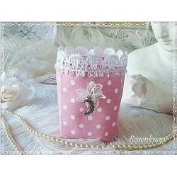 Lichtbeutel Teelicht Rosa Weiß Punkte