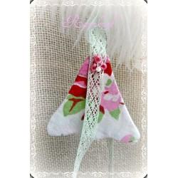 Stoff-Blüte Weiß Rosa