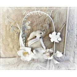 Osterfenster mit Hase Weiß Ivory E K