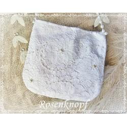 Handtasche Braut Weiß Spitzen  E