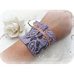 Armband Brautschmuck Flieder Spitze