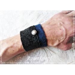 PULSWÄRMER Herren Manschette Stulpe Armband Männer Anthrazit AXELL