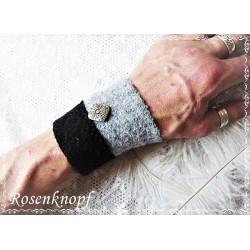 PULSWÄRMER Herren Manschette Stulpe Armband Walk Männer Grau Schwarz CLAUDE