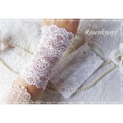 Spitzenstulpen Weiß Braut Damen E