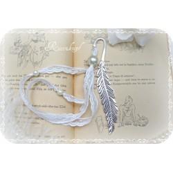 Lesezeichen FEDER Silber Ivory