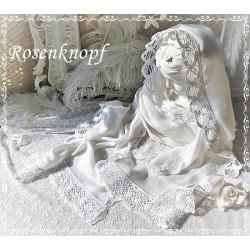 Schal Tuch Brautstola Weiß