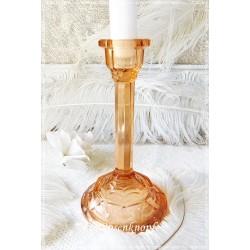 KERZENSTÄNDER Kerzenhalter Rosalinglas Shabby Glas Glaskerzenständer Vintage Brocante Kerzenleuchter Rosalin E