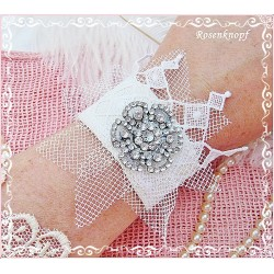 Armband Brautschmuck Weiß Spitze