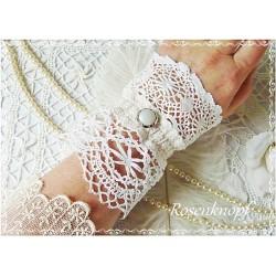 Spitzenmanschette Brautstulpe Weiß