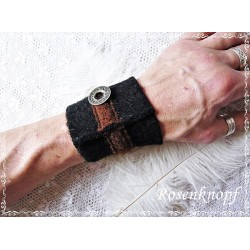 PULSWÄRMER Herren Manschette Stulpe Armband, Walk Männer Schwarz UNIKAT Jeremy