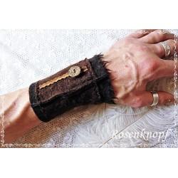 PULSWÄRMER Herren Manschette Stulpe Armband Walk Männer Schwarz Braun NIK