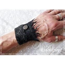 PULSWÄRMER Herren Manschette Stulpe Armband Walk Männer Anthrazit Schwarz MUNRO E+K