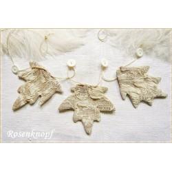BLATTGIRLANDE aus Stoff in Ivory passend zum Shabby Stil ♥ UNIKAT