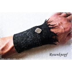 PULSWÄRMER Herren Manschette Stulpe Armband Walk Männer Anthrazit Schwarz MUNRO