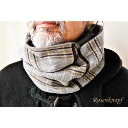 LOOP Schlauchschal Schal Rundschal Herrenschal Anthrazit Grau Braun Dunkelbraun UNIKAT Fleece Männerloop Männer E